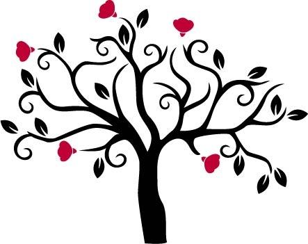 Naklejka Dekoracyjna Na ścianę Drzewo Wiosna Naklejka Dwukolorowa