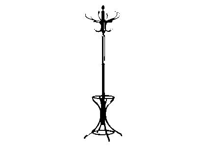 Naklejka Dekoracyjna Na ścianę Wieszak Stojący Naklejki